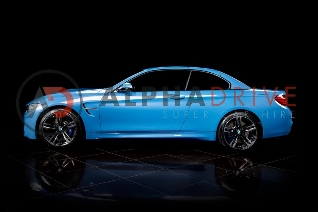 BMW side view blue