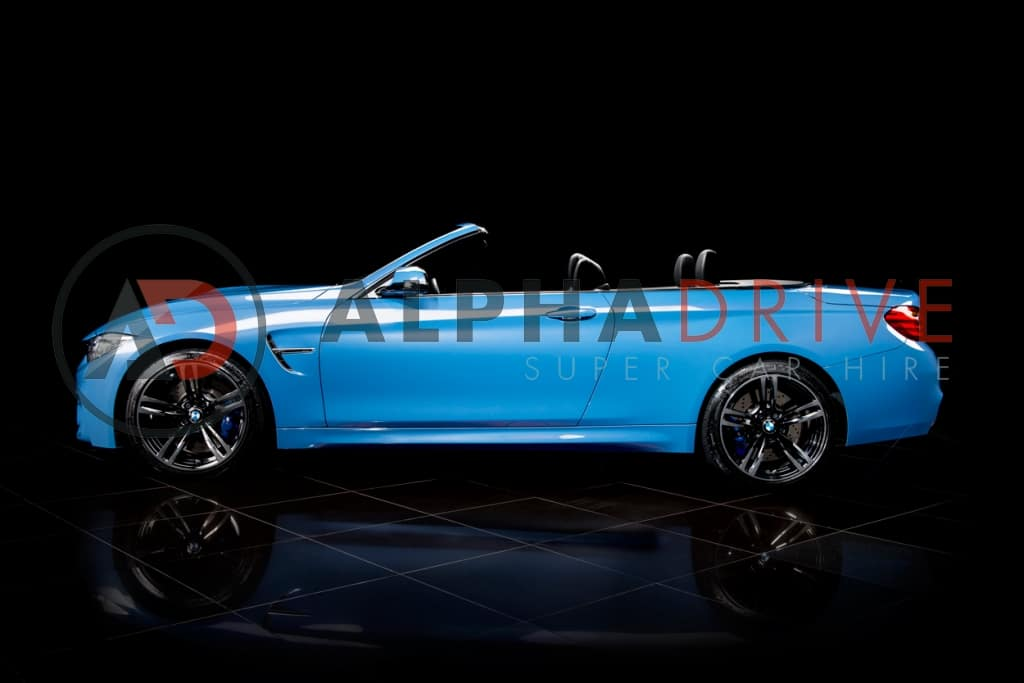 roof down side view BMW