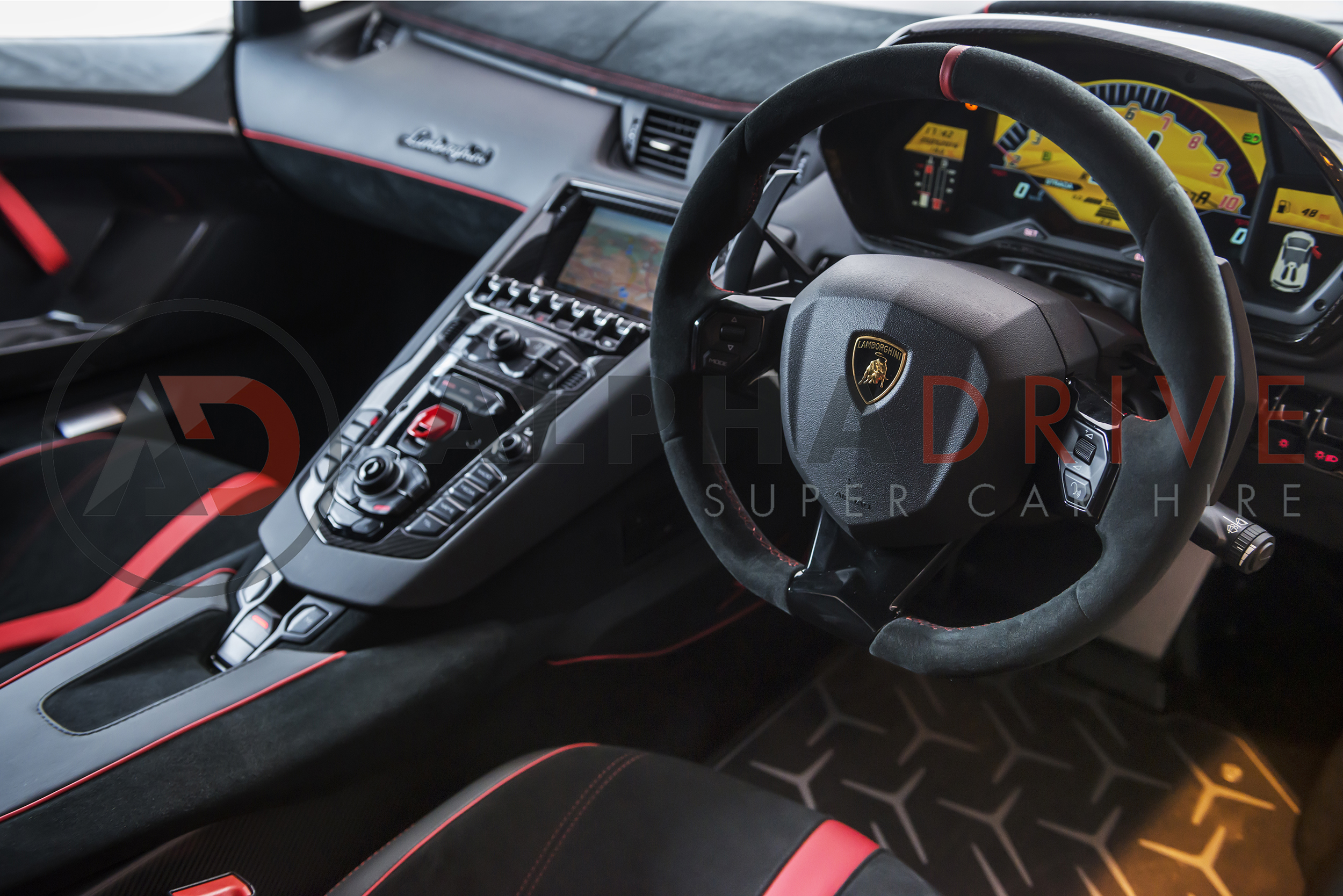 lamborghini aventador sv roadster interior alphadrive supercar hire. Black Bedroom Furniture Sets. Home Design Ideas