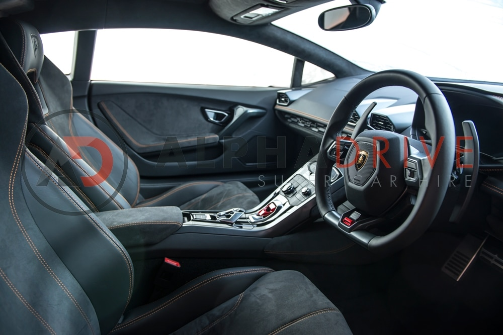 Lamborghini interior view