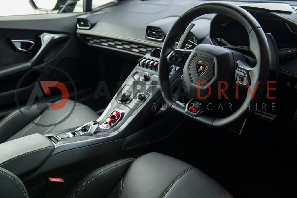 Lamborghini interior London car hire