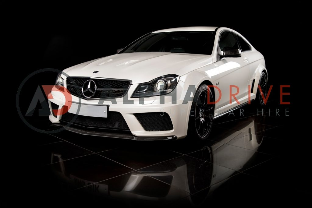 Mercedes white Series car hire