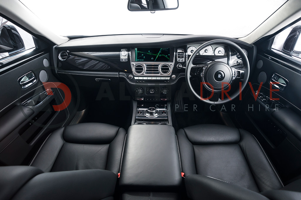 Inside Rolls Royce London car hire