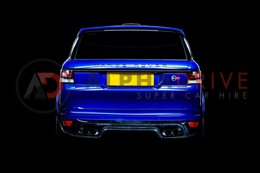 The Rear of the Range Rover SVR in Blue