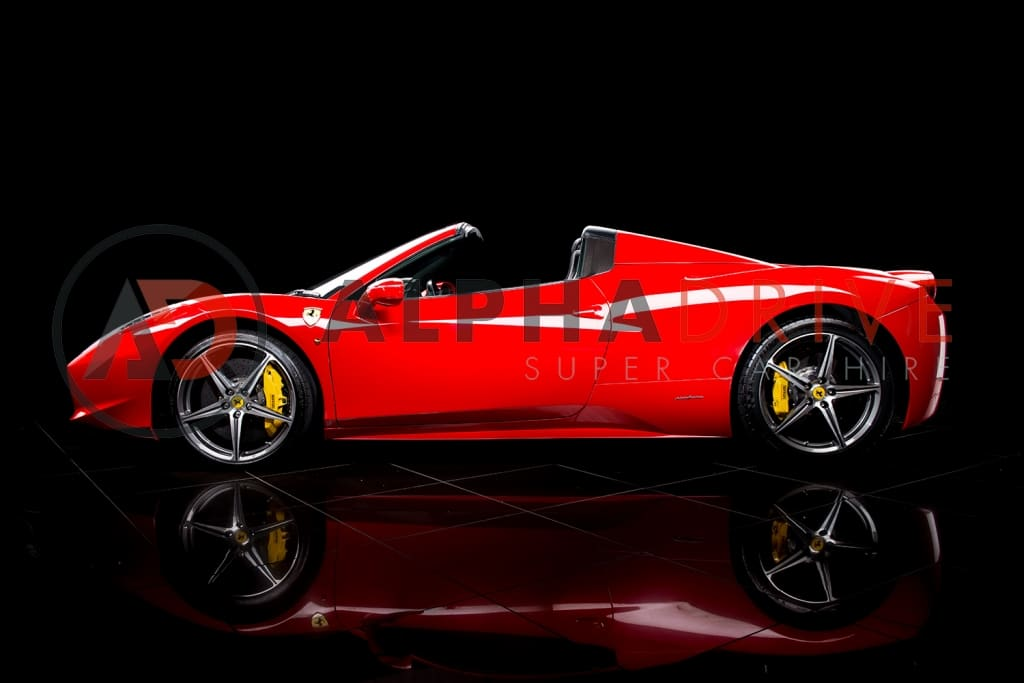 Ferrari-458-Spider-1 red London car hire