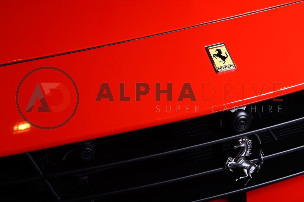 Ferrari logo red car hire