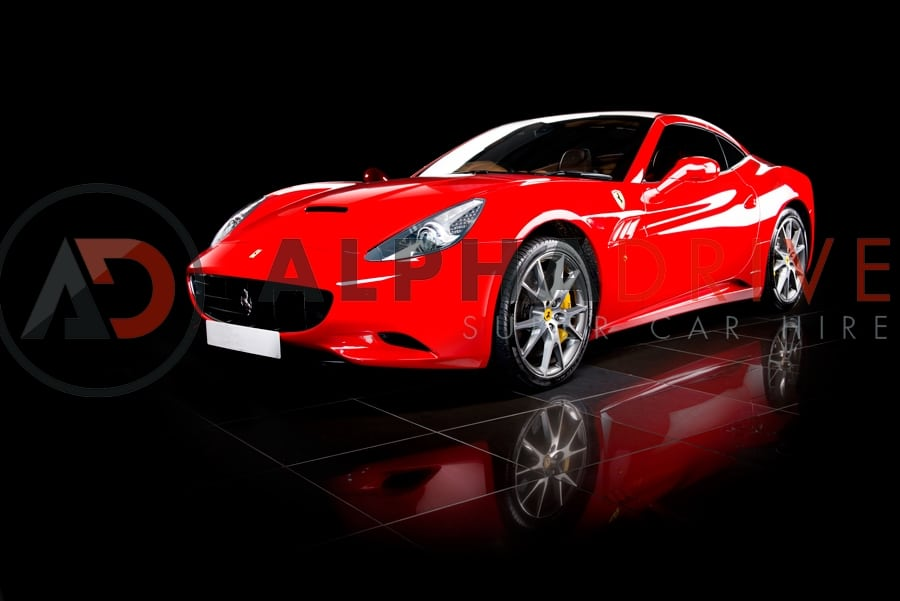 Ferrari California red front view