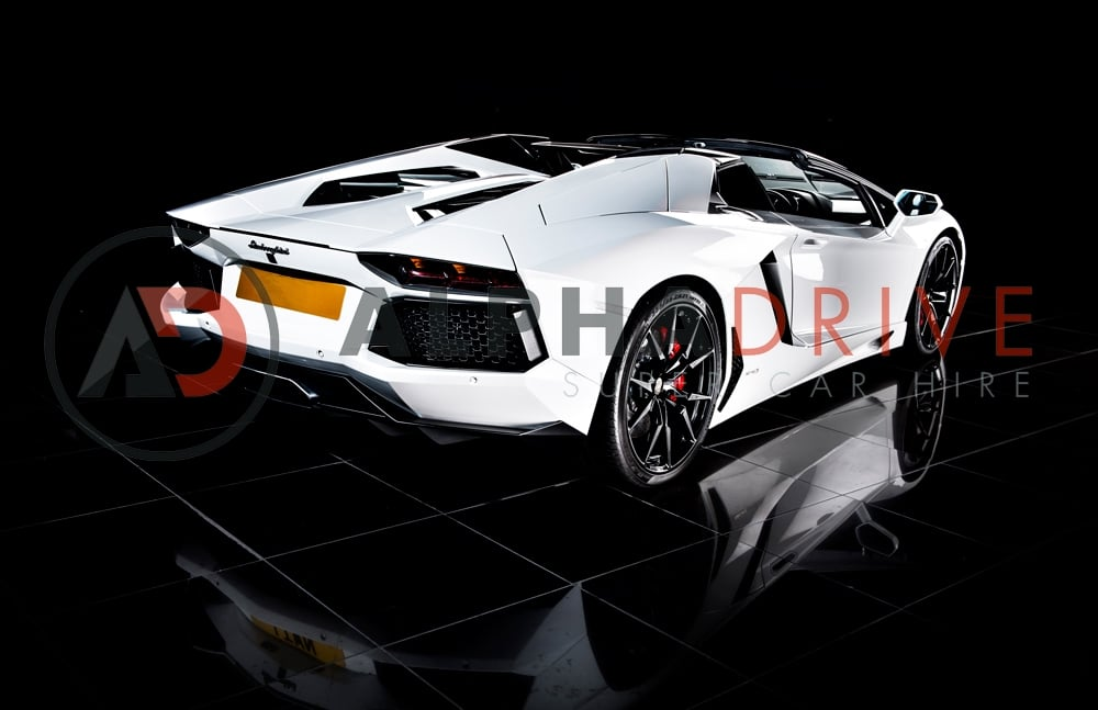 Lamborghini Roadster rear view car hire