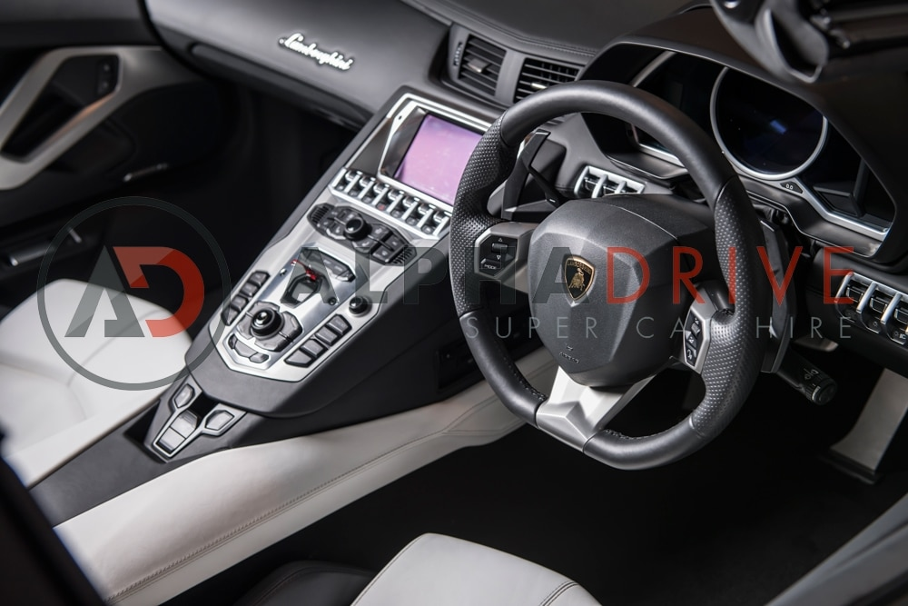 Lamborghini steering wheel car hire