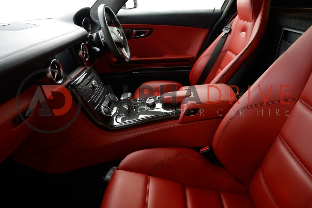 Mercedes red interior