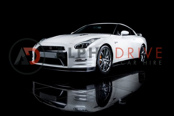 Nissan GTR front view white