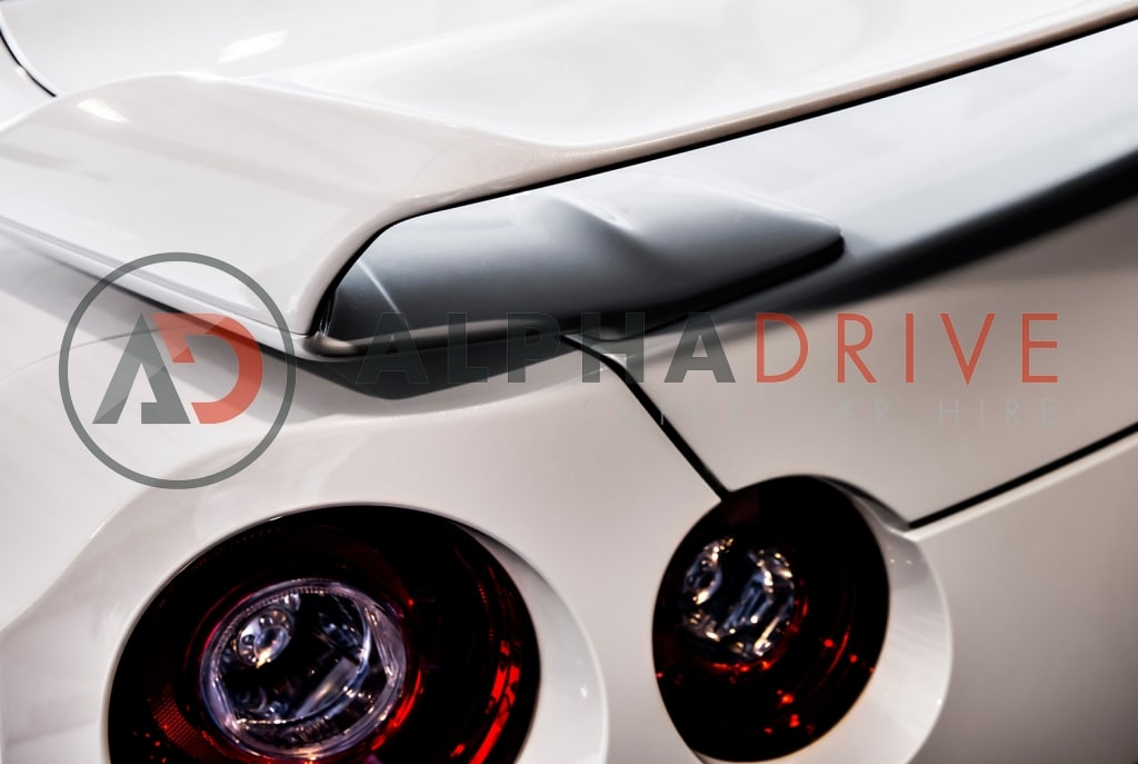 Nissan GTR rear lights white