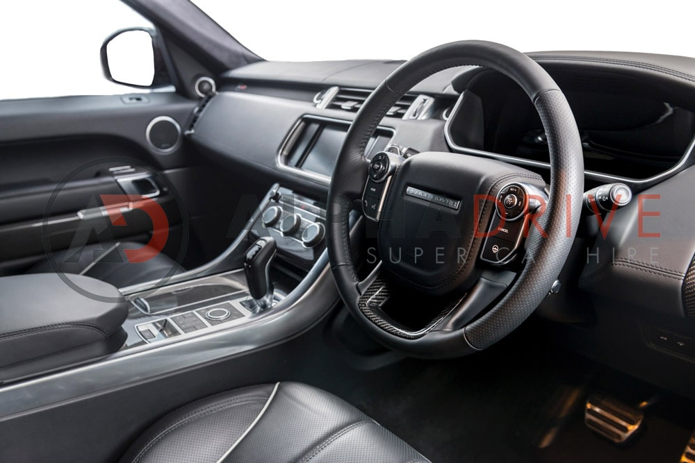 Feature packed interior of the Range Rover SVR