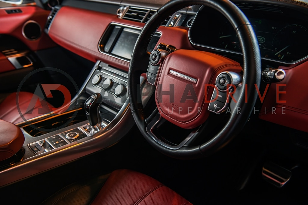 Red interior Range Rover