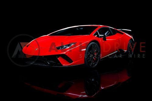 Front view of Lamborghini Huracan