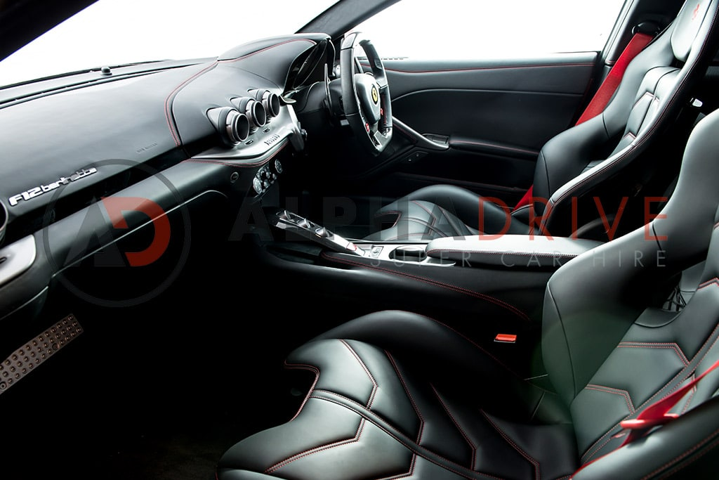 Interior and Dash board Inside Ferrari