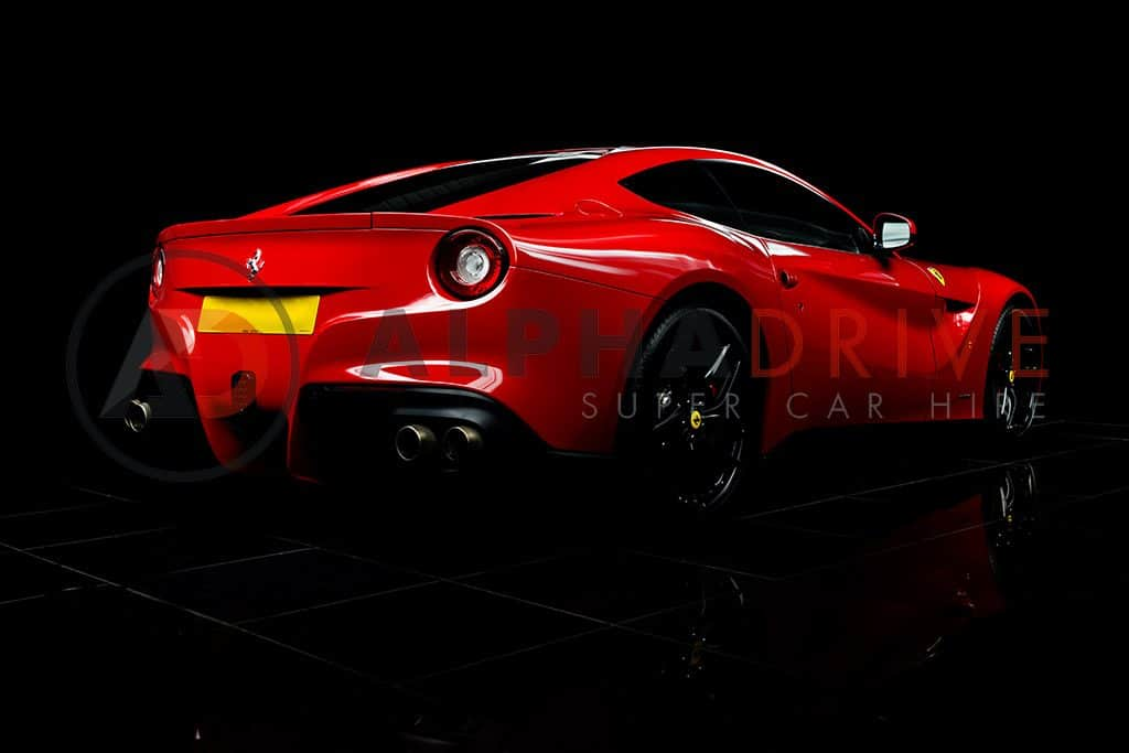 Red Ferrari Rear View