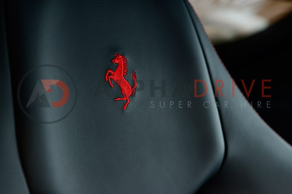 Seat in Red Ferrari F12
