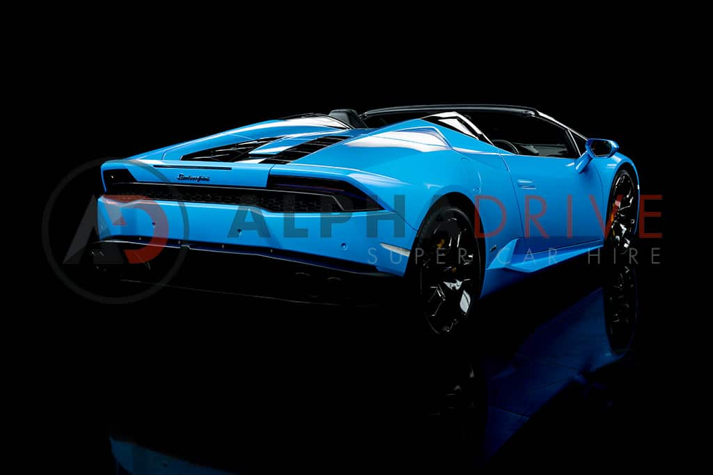 Rear View Blue Lamborghini