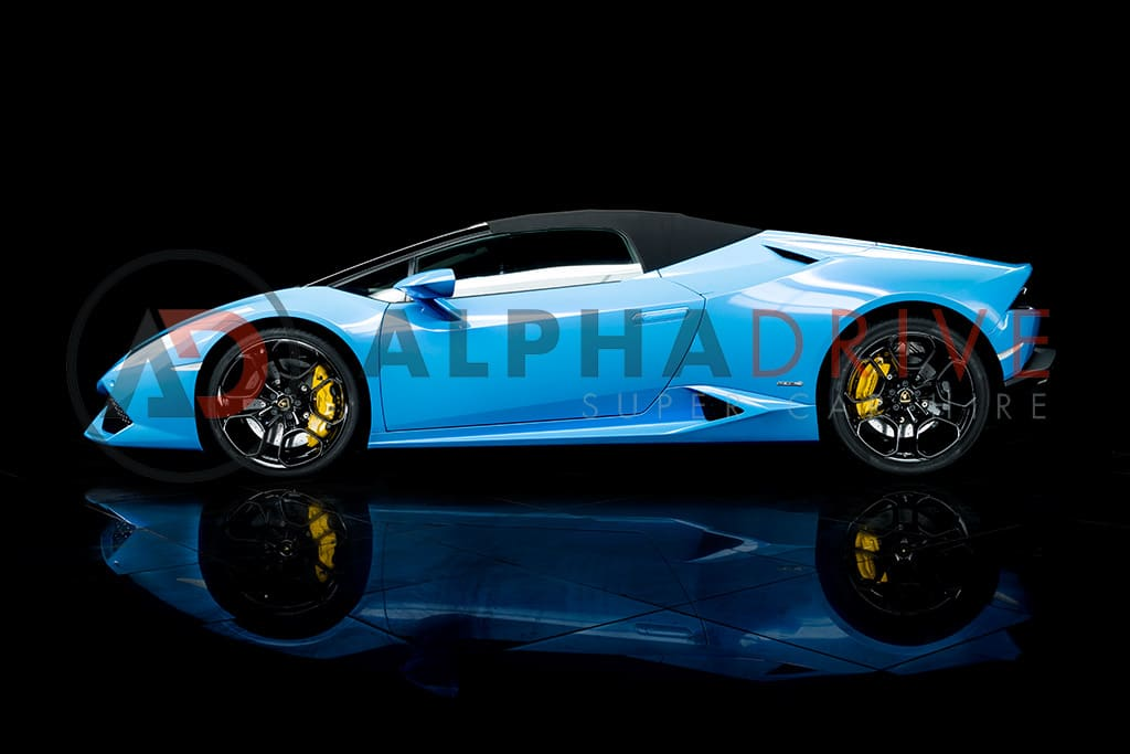 Lamborghini Blue side view