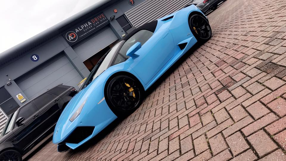 Lamborghini in baby blue
