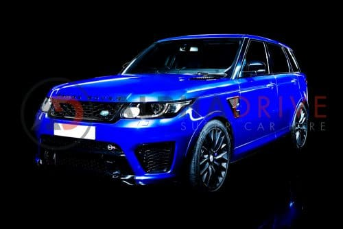 Hire the Range Rover SVR in Estoril Blue Today
