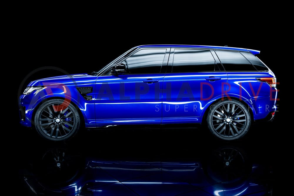Hire the 2017 Range Rover SVR in Estoril Blue Today
