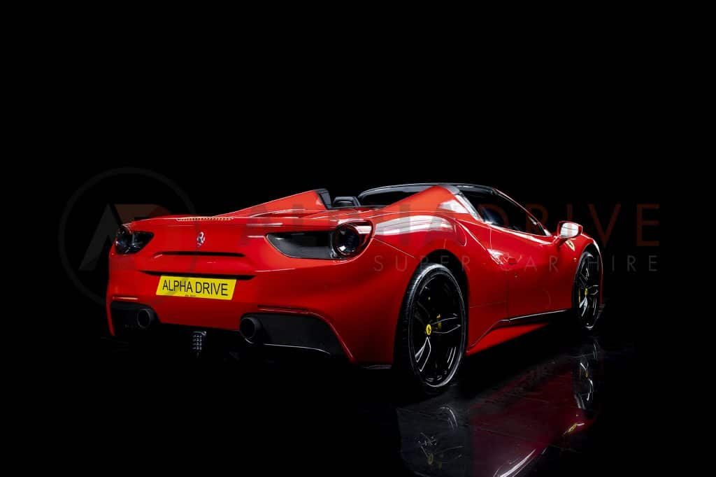 Ferrari 488 Spider Rear Roof Off