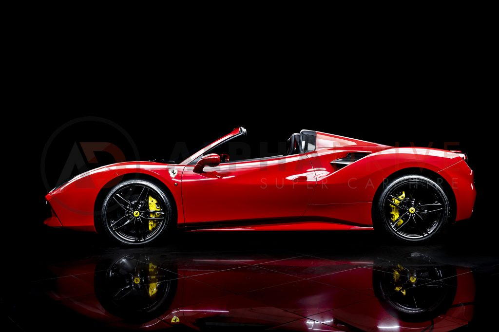Ferrari 488 Spider Side Roof Off
