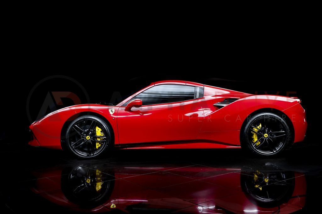 Ferrari 488 Spider Side Roof On